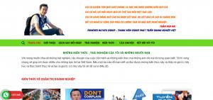 Thiết kế web thương hiệu cá nhân Bình Dương