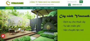 Thiết kế web thương hiệu cây xanh Bình Dương