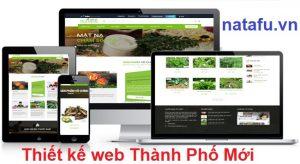 Thiết kế web thương hiệu Thành Phố Mới