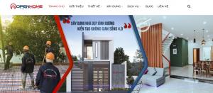 Thiết kế web thương hiệu xây dựng Bình Dương