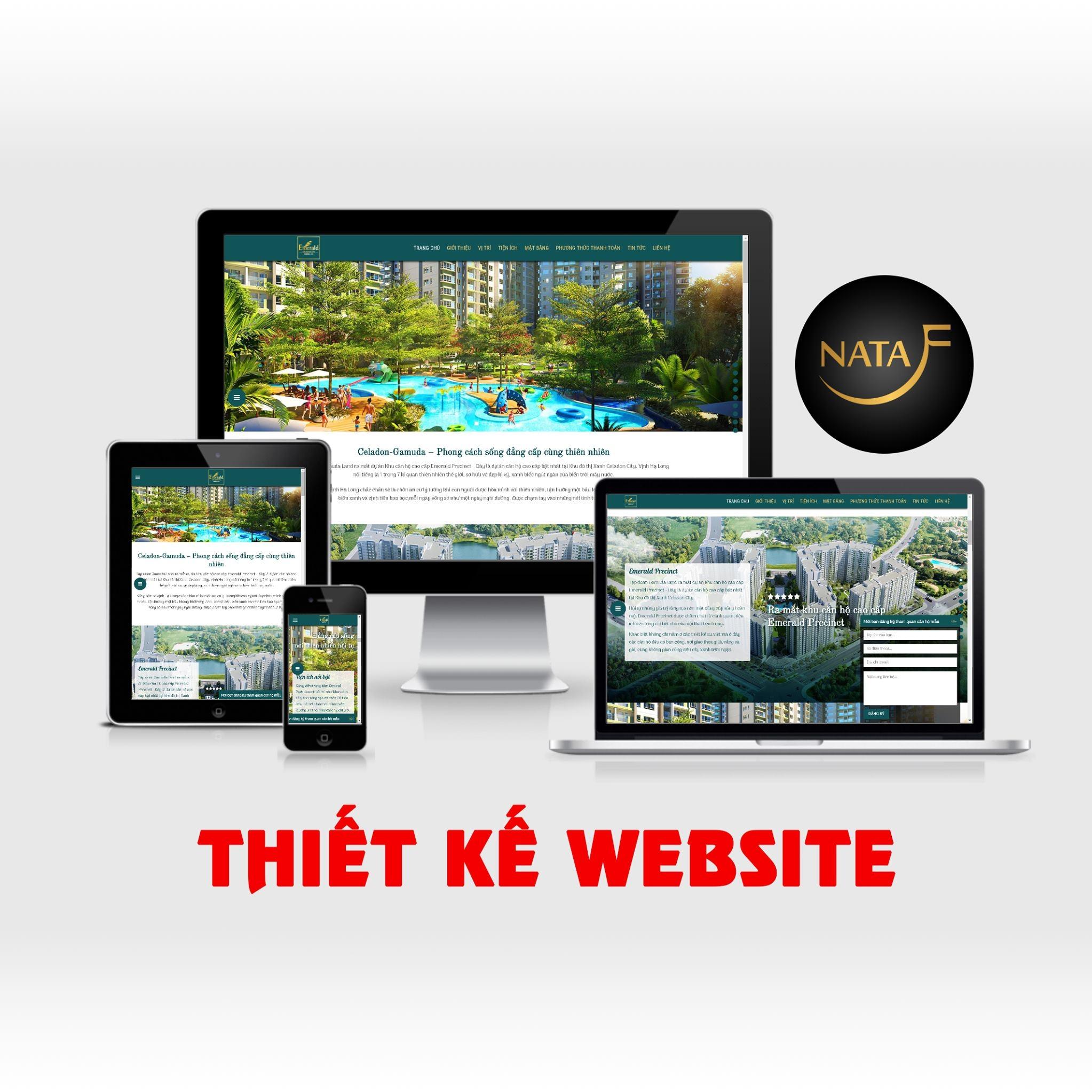 Dịch vụ thiết kế website chuẩn SEO của NATAFU tại Bình Dương