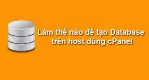 Cách tạo mới Database trên cPanel của Web Hosting