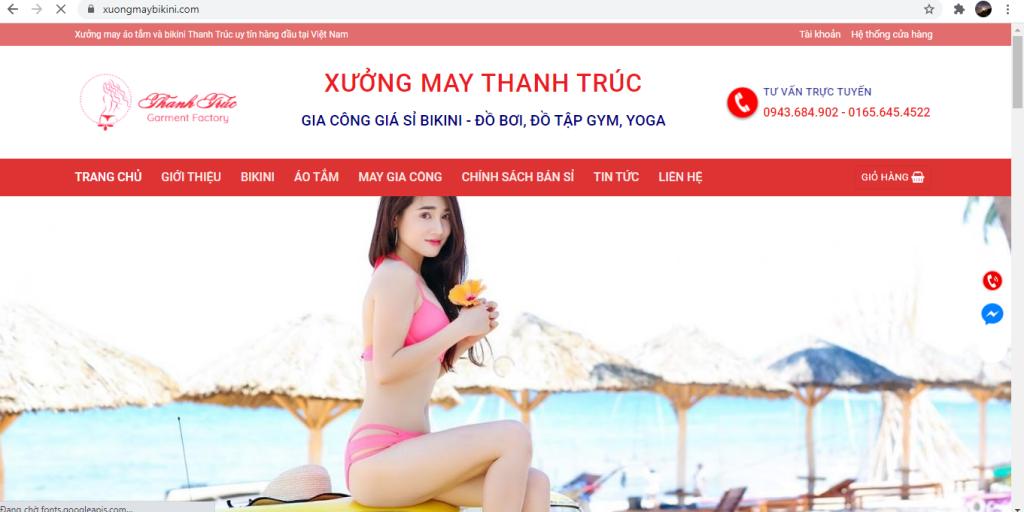 Cho thuê website về bikini và gia công bikini