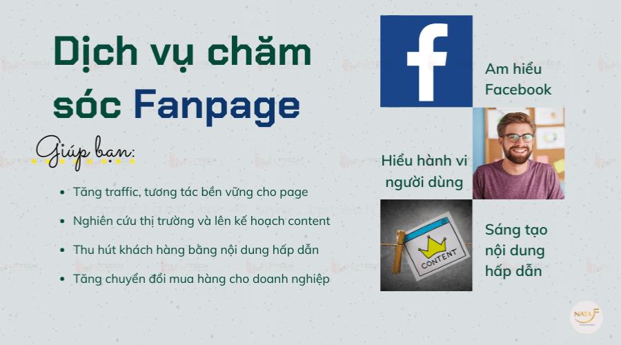 Dịch vụ chăm sóc fanpage fb